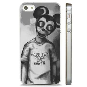 Details About Mickey Mouse Creepy Horror Art Clear Phone Case Cover Fits Iphone 5 6 7 8 X