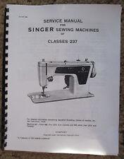 Singer 237 Sewing Machine Service Repair Adjusters Manual Book