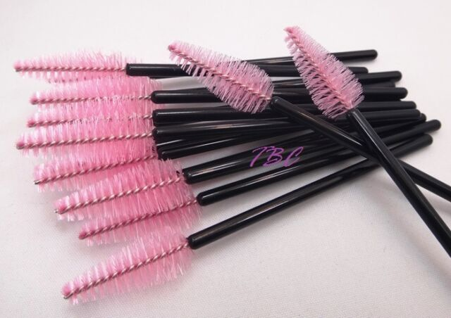 Heart Shape Pink Disposable Mascara Wands Brushes Eyelash Extension