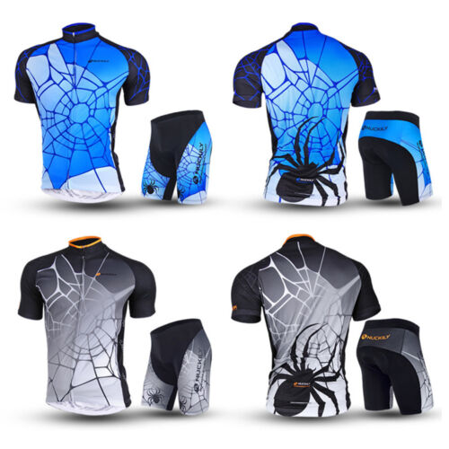 New Men Cycling Bike Short Sleeve Clothing Set Bicycle Wear Suit Jersey Shorts