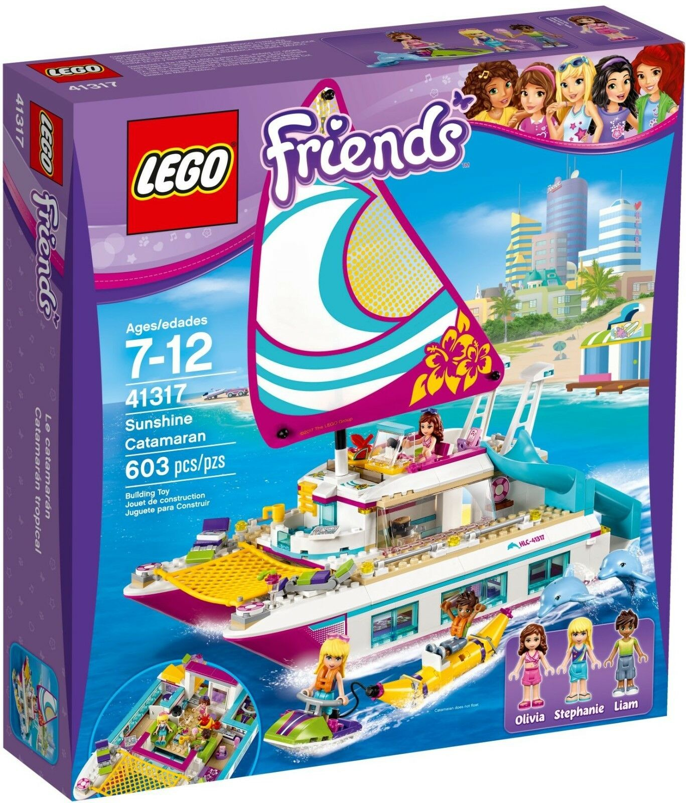 LEGO Friends Sunshine CATAMARANO Playset - 41317-Nuovo con Scatola - 1st Class Post