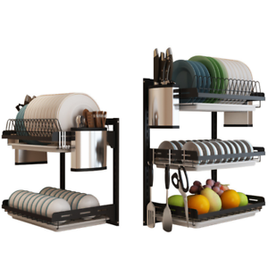 3-Tier-Dish-Drying-Rack-Dish-Rack-Drainer-Holder-Kitchen-Storage-Space-Saver