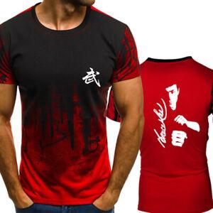 Hot-Summer-Fashion-Bruce-Lee-Print-Short-Sleeve-T-Shirt-Casual-Tops-Tee