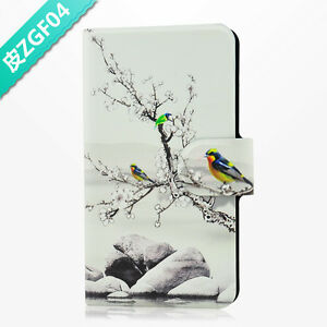 Hot-Chinese-Drawing-Parrot-PU-Leather-Flip-Case-Cover-For-HTC