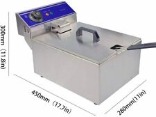 2000w 10l Electric Deep Fryer Tank Commercial Amp Home Single Tank Stainless Steel