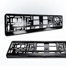 2x Kennzeichenhalter | SCHWARZ | Metallic | Nummernschildhalter | Glanz-Schwarz