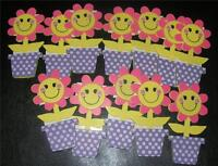 Girl 6 Wood Daisy Pots--troop Craft Swap Name Tag Scouts Daisies Painted