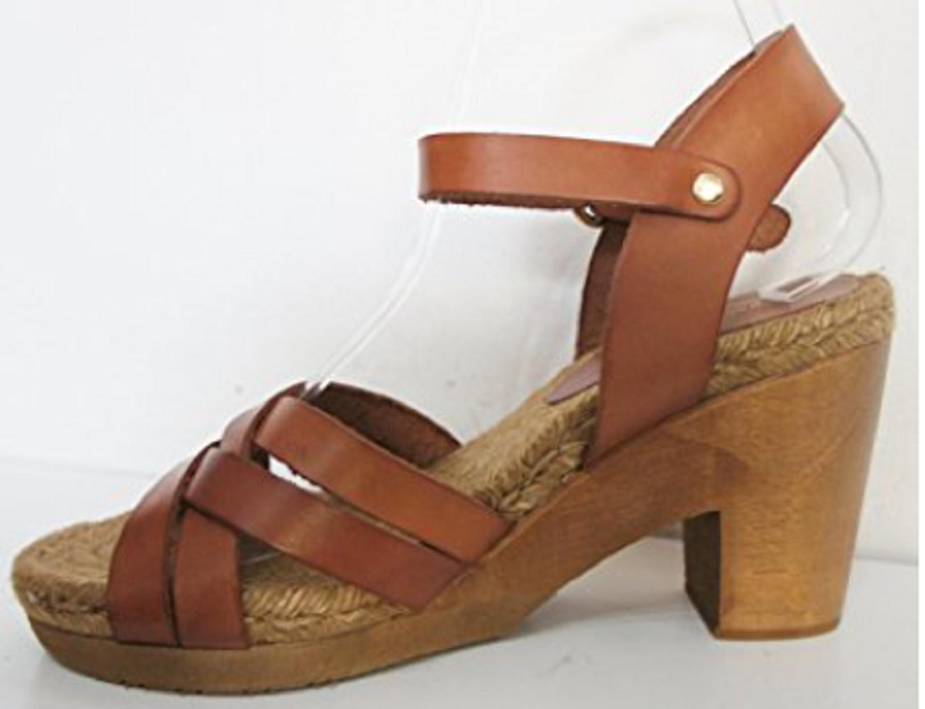 JOHN LEWIS COLLECTION BROOKLYN CUERO TAN Rope Sole Sandals UK8/EU 42