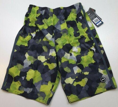 Speedo Boys Geo Camo Volley Swim Shorts Trunks ~ Green Or Blue ~ Multiple Sizes