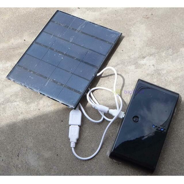 USB Charger 6V 3.5W Solar Panel Power Bank For Power Cell Phone PC Tablet MP3 FT
