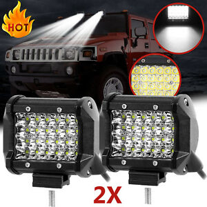 1 SILVER ROOF BAR OFF ROAD BRONCO DODGE FOG//DRIVING LIGHTS LAMPS 6 FREE BULBS