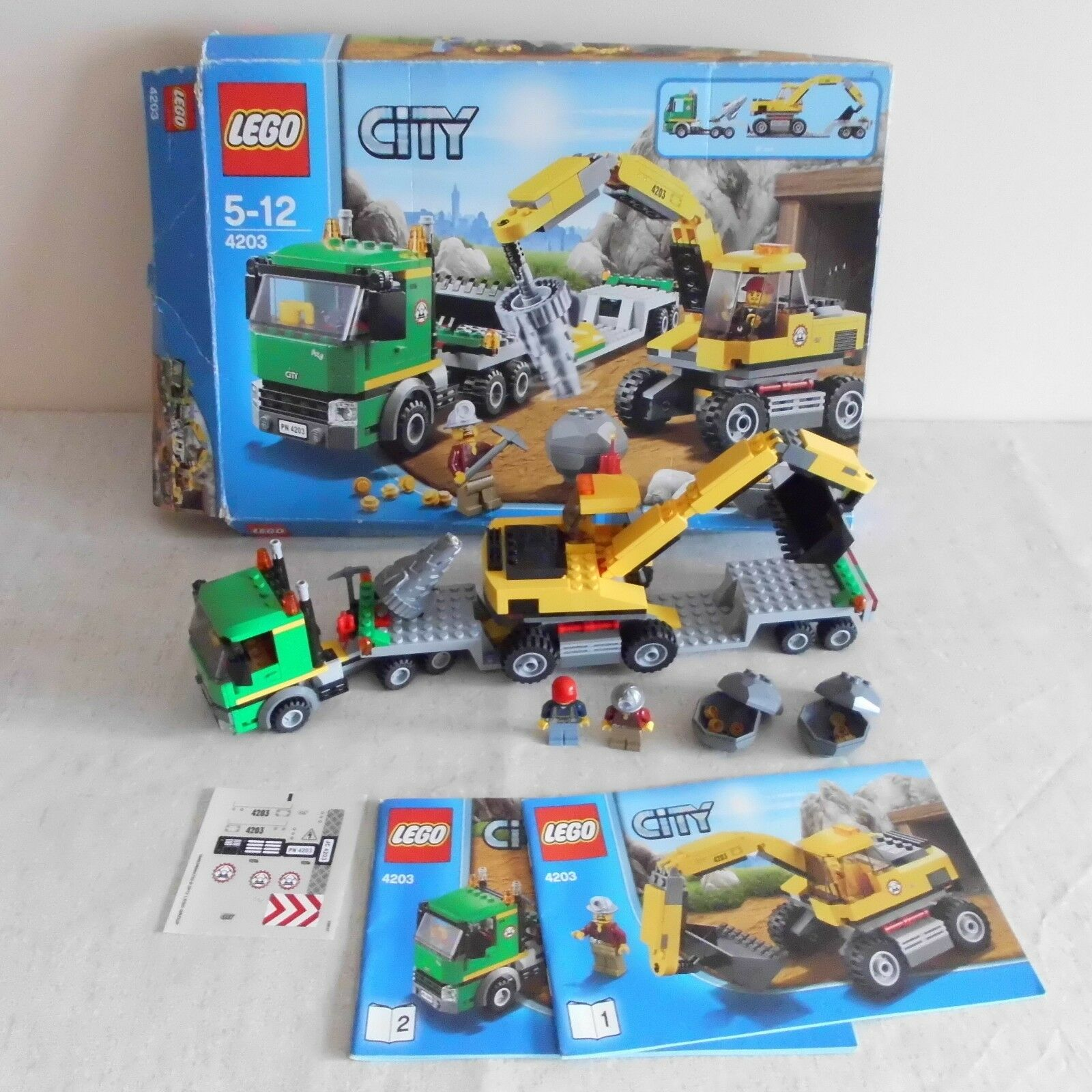 Lego 4203 Mining Excavator Transporter. Boxed. 100% Complete