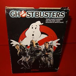 VINTAGE-1985-80s-ATARI-2600-GHOSTBUSTERS-VIDEO-GAME-CARTRIDGE-DAVID-CRANE-BOXED