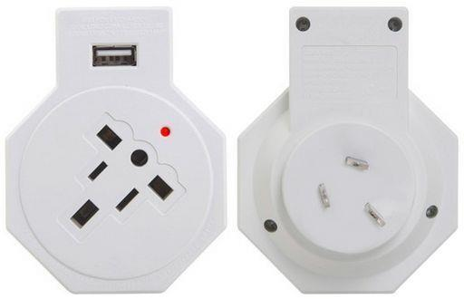 Jackson Inbound USB Travel Adaptor USA, UK, Japan And Europe