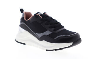 Skechers-Rovina-Clean-Sheen-155046-Womens-Black-Lifestyle-Sneakers-Shoes-6-5