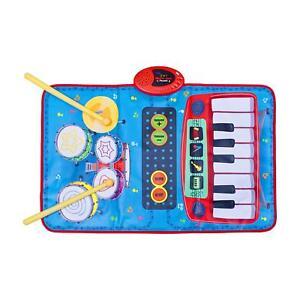 Courageux Enfants Musical Tapis De Jeu Kit Batterie Clavier Piano Apprenez Pour Jouer