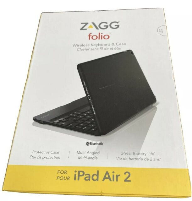 ZAGG Folio Ipad Air 2 Wireless Keyboard and Case Bluetooth slim