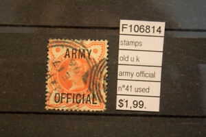 STAMPS-OLD-U-K-ARMY-OFFICIAL-N-41-USED-F106814