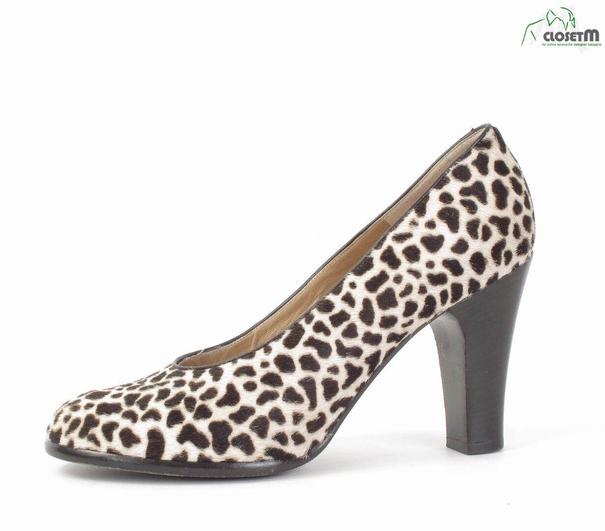 Varda Stenciled Pony Hair Heels shoes Sz. EU 36.5  US 6.5