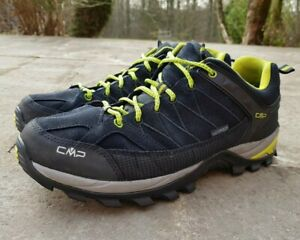 Details zu Cmp Herren Gr 44 Rigel Low Trekking Schuhe Wanderhalbschuhe Lime Blau schwarz
