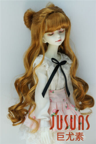 7-8inch Bowknot Synthetic Mohair Doll Wigs MSD 1//4 Pretty Long BJD Wig JD436