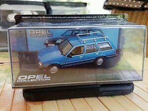 Opel Rekord E Caravan//Kombi BOX 1//43- Opel Collection blaumet 1982-86