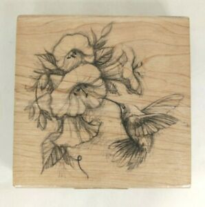 Inkadinkado-Hummingbird-And-Flower-Rubber-Stamp-97077-Q