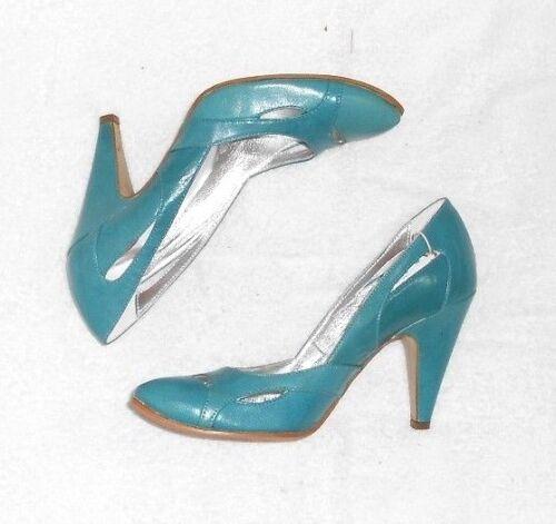 P Bleu Turquoise Neufs Escarpins Fausta 38 Cuir Moretti wCTqpR1
