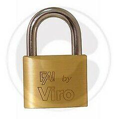 Viro Fai art 553 lucchetto rettangolare 30 mm con arco in acciaio 2 chiavi