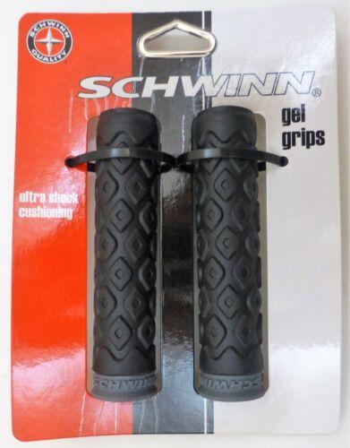 NEW Schwinn Gel Comfort Grips Bike Bicycle Handlebar Black Shock Absorbing