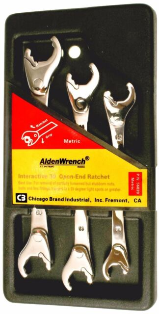 """Gearwrench 10pc SAE Fractional Full Polish Stubby Wrench Set 3//8/""""-15//16/"""" #81905"""