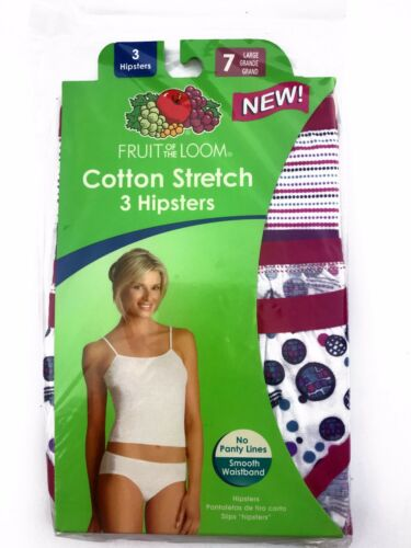 Fruit of the Loom® Women/'s Cotton Stretch Hipster 3-Pack
