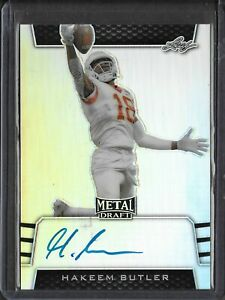 2019-Leaf-Metal-Draft-HAKEEM-BUTLER-Silver-Prismatic-Auto-RC-Cardinals-WR