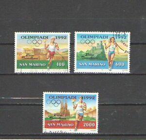 P7158-SAN-MARINO-1991-SERIE-COMPLETA-VERSO-LE-OLIMPIADI-USATA