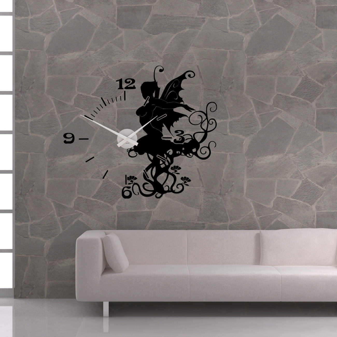 Murales reloj karlsson reloj de parojo sunnyfee duendecillo hada Fairy elve Modern +392+
