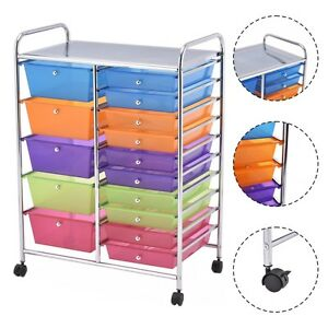 Image Is Loading 15 Drawer Rolling Storage Cart Tools Scrapbook Paper