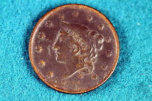 ESTATE-FIND-1835-Coronet-Head-Large-Cent-HEAD-OF-36-G1126