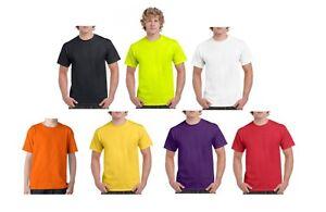 Men-039-s-Plain-Heavy-Cotton-T-Shirt-Adult-Heavy-Tee-Choose-colour-Size-S-2XL