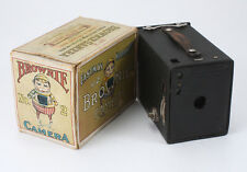 KODAK NO. 2 BROWNIE MODEL E, 6X9 ON 120, TORN BOX, BAD SHUTTER, AS-IS/cks/194121