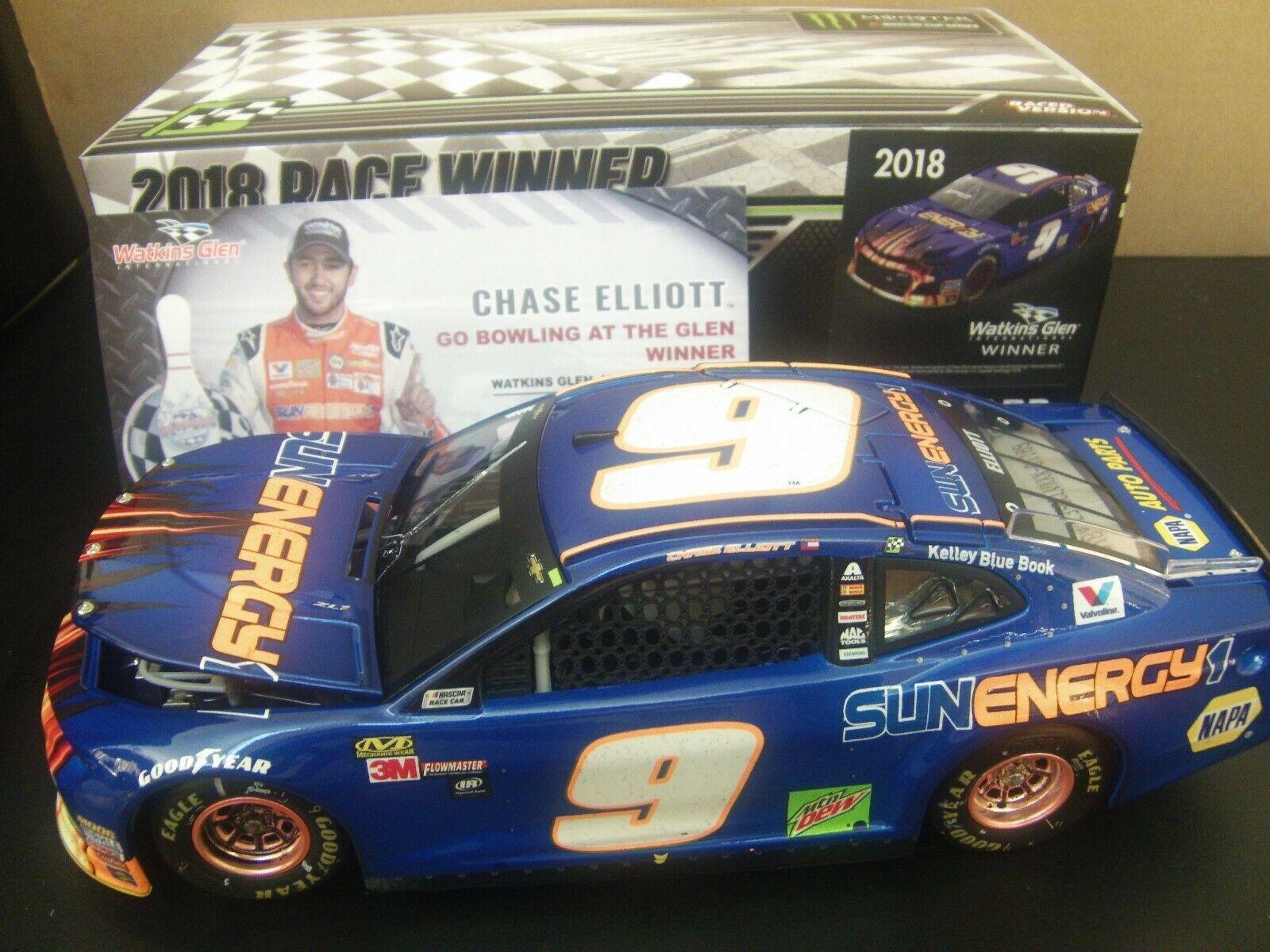 Chase Elliott 2018 WATKINS GLEN 1 24 FIRST NASCAR WIN SunEnergy bluee