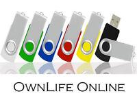 Lot 4gb 4g Usb Flash Drive Thumb Pen Memory Stick 2.0 Swivel Color Blue