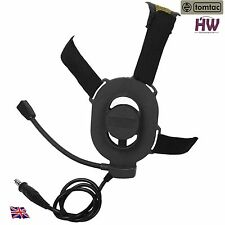 AIRSOFT TOMTAC BOWMAN ELITE II 2 HEADSET BOOM MIC BLACK SWAT HELMET RADIO UK
