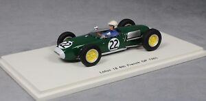 Spark Lotus 18 Grand Prix de France 1960 Ron Flockhart S1823 1/43 Nouveau 9580006521620