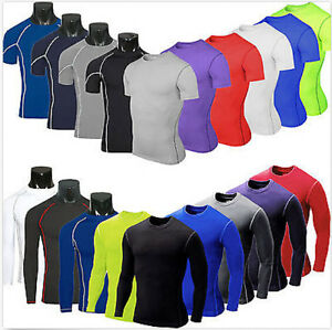 Mens-Compression-Baselayer-Body-Armour-Thermal-Under-Skin-T-Shirt-Tight-Gear-Top