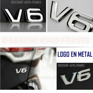 Embleme-logo-3D-chrome-Logo-Voiture-Tuning-Sticker-V6-logo-en-metal