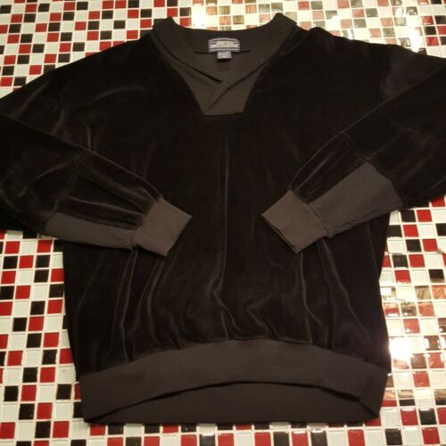 VTG 70's 80's ~ VELOUR ~ Mervyns Tennis Golf BLACK