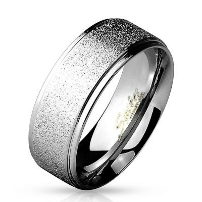 Black Tungsten Brushed Stripe Step Edge Wedding Band Men/'s Ring Size 9-13