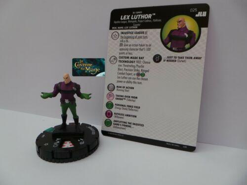 HEROCLIX JUSTICE LEAGUE UNLIMITED #025 Lex Luthor UC|