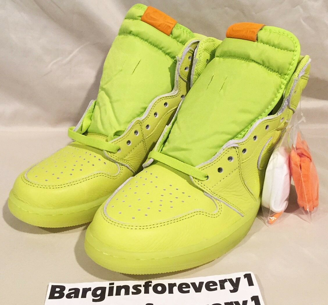 Air Jordan 1 Retro Hi OG Gatorade - Lemon Lime - Size 10.5 - Cyber - AJ5997-345