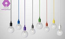 sospensione filo stoffa colorato 1 luce camera da letto studio cameretta giochi